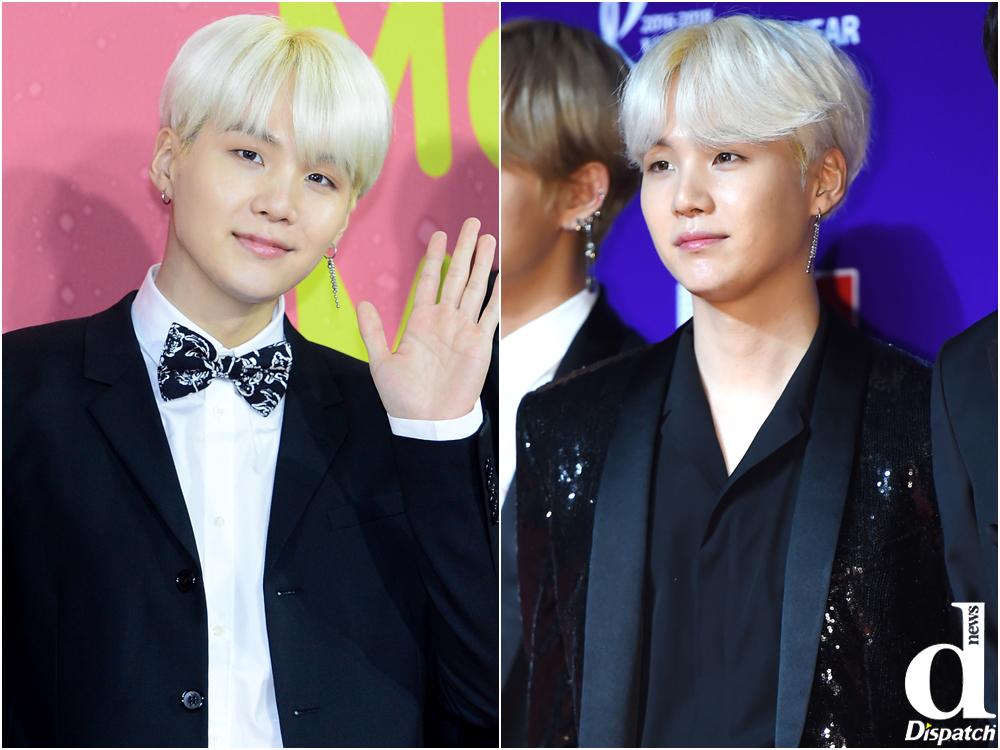 Bts Sugas Sugar Like Sweet Blond Hairstyle Compilation Korea Dispatch