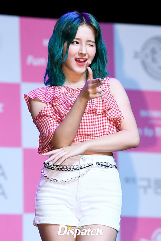 Nancy The Momoland S Maknae Got A New Haircolor Green Korea